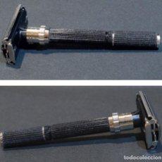 Antigüedades: MAQUINILLA GILLETTE SUPER AJUSTABLE BLACK HANDLE 1977. Lote 295742238