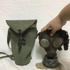 Antigüedades: ANTIGUA MASCARA DE GAS SEGUNDA GUERRA MUNDIAL CON FILTRO!. Lote 295747298