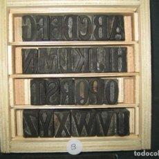 Antigüedades: IMPRENTA - ABECEDARIO DE MADERA - PRINCIPIOS-MEDIADOS SIGLO XX - REF ABC-3. Lote 295769203