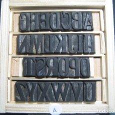 Antigüedades: IMPRENTA - ABECEDARIO DE MADERA - PRINCIPIOS-MEDIADOS SIGLO XX - REF ABC-2. Lote 295769278
