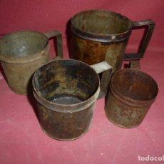 Antigüedades: MAGNIFICAS ANTIGUAS 4 MEDIDAS FABRICADAS POR A.SOLANS BARCELONA. Lote 295895288