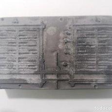 Antigüedades: TAMPON, PLANCHA DE IMPRENTA , METALICA Y MADERA, MEDIDAS 10 X 5,5 CM. Lote 296945138