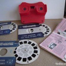 Antigüedades: ENVIO: 4€ VISOR ESTEREOSCOPICO 3D CON DISCOS. Lote 297097988