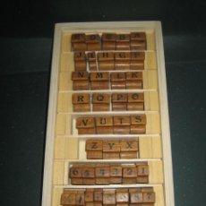 Antigüedades: IMPRENTA - LETRAS DE CAUCHO - DE UN AMIGO - ABECEDARIO Y VARIOS - MUY ANTIGUO -REF G1. Lote 297152568