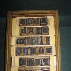 Antigüedades: IMPRENTA - LETRAS DE CAUCHO - DE UN AMIGO - ABECEDARIO - MUY ANTIGUO - REF G2. Lote 297153203
