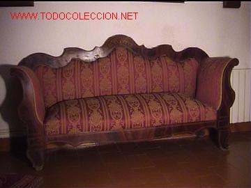 Sofa isabelino comprar sof s antiguos en todocoleccion for Sofas antiguos