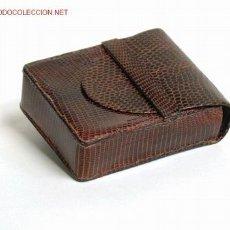 Antigüedades: PITILLERA EN PIEL DE LAGARTO- AÑOS 60-70 . Lote 8466986