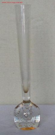 FLORERO CON BOLA DE CRISTAL (Antigüedades - Cristal y Vidrio - Otros)