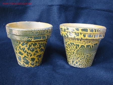 Dos macetas de ceramica muy originales comprar cer mica Macetas ceramica online