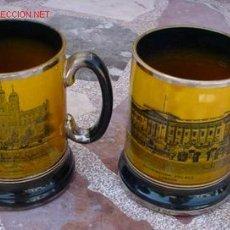 Antigüedades: 2 JARAS DE CERVEZA , CON ESCENAS DE LONDRES.. Lote 26877378