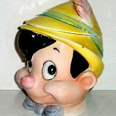 Antigüedades: ANTIGUA CABEZA DE PINOCHO DE CERAMICA ¡ MUY RARA !. Lote 26697483