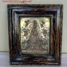 Antigüedades: VIRGEN DE BEGOÑA .. DE COBRE CON BAÑO DE PLATA .. BILBAO. Lote 24991317