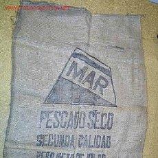 Antigüedades: CASA MAR. VIGO- GALICIA- SACOS YUTE- PESCA - TRANSPORTE BACALAO SECO APROX 1950. Lote 162769165