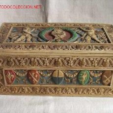 Antigüedades: CAJA EN MAYOLICA ITALIANA. Lote 27533770