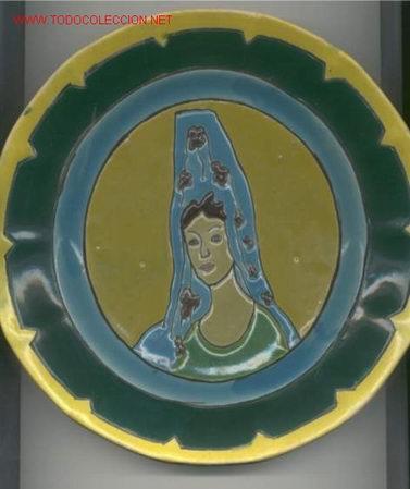 PLATO DE CERAMICA TRIANA (SEVILLA) (Antigüedades - Porcelanas y Cerámicas - Triana)