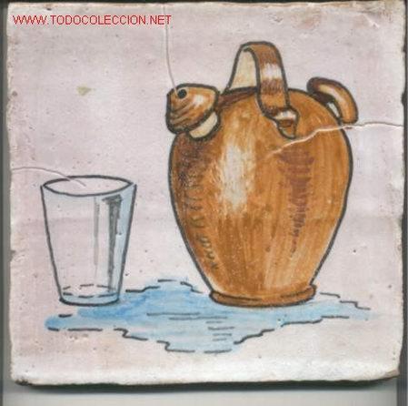 AZULEJO DE CERAMICA --TRIANA SEVILLA-- (Antigüedades - Porcelanas y Cerámicas - Triana)