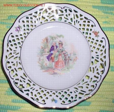 SEIS PLATOS CERAMICA ANTIGUOS (Antigüedades - Porcelana y Cerámica - Alemana - Meissen)