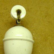 Antigüedades: POLEA DE LAMPARA EN CERAMICA VIDRIADA. Lote 26047409