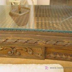 Antiquitäten - MESA ANTIQUÍSIMA-----PAN DE ORO----REJILLA .......OVAL REDONDEADA - 5190464