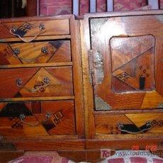 Antigüedades: CAJA MADERA DIVERSOS CAJONES. Lote 27578350