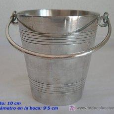Antigüedades: CUBO PARA HIELO CUBITERA ALPACA PLATEADA. Lote 25591447