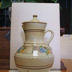 Antigüedades: JARRA CON ASA Y TAPADERA. DE PEYRÓ. Lote 57736756