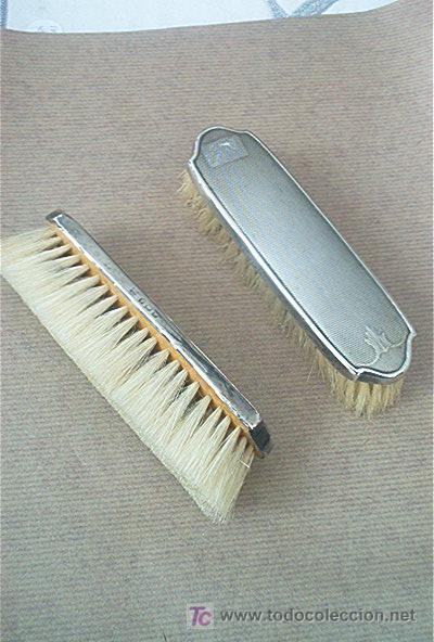 Antigüedades: Cepillos de plata - Foto 2 - 26490019