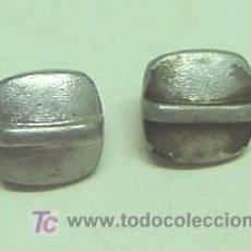 Antigüedades: LOTE DE DOS BOTONES ANTIGUOS METALICOS. Lote 3545348