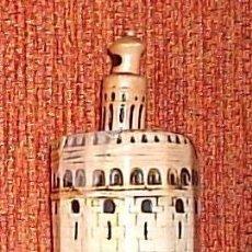 Antigüedades: FIGURA DE LA TORRE DEL ORO DE SEVILLA EN UNA EXPOSICIÓN IBERO AMERICANA DE HACE UNOS OCHENTA AÑOS. S. Lote 24351617