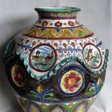 Antigüedades: MAYOLICA ARETINI, ITALIA, CA. 1910. Lote 27035204