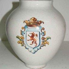 Antigüedades: ANTIGUO JARRON DE CERAMICA DE TALAVERA DE LA REINA - RUIZ DE LUNA - TAL COMO SE VE EN LAS FOTOGRAFIA. Lote 27268004