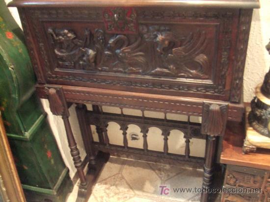 Segunda Mano Antiguedades Muebles : Mueble bargueño o papelera estilo renacimiento vendido