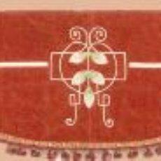 Antigüedades: CORTINERO FRONTAL MODERNISTA DE TERCIOPELO ROJO BORDADO - ÉPOCA 1900. Lote 26421533