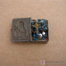 Antigüedades: PEQUEÑITO ROSARIO-MIDE 18 CM. -CON CAJITA METÁLICA-ES DE CZECHO-SLOVAKIA. VER FOTOS.. Lote 22111878