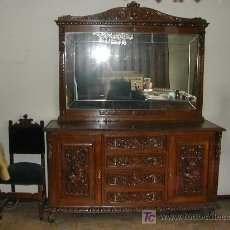 Antigüedades: APARADOR CON ESPEJO . Lote 14769483