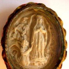 Antigüedades: RELICARIO DE LOURDES - FINALES DEL XIX. Lote 27080367