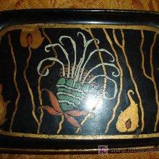 Antigüedades: BANDEJA MODERNISTA DECORADA A MANO. Lote 3807218