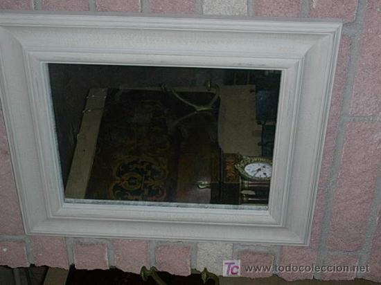 espejo de madera en tonos blancos antigedades muebles antiguos espejos antiguos