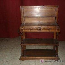 Antigüedades: TRINCHERO DE NOGAL CON MARMOL. Lote 22697517