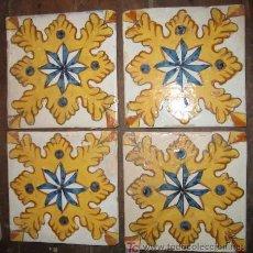Antigüedades: JUEGO DE 4 RACHOLAS DE 13'5 CMS. Lote 11591557