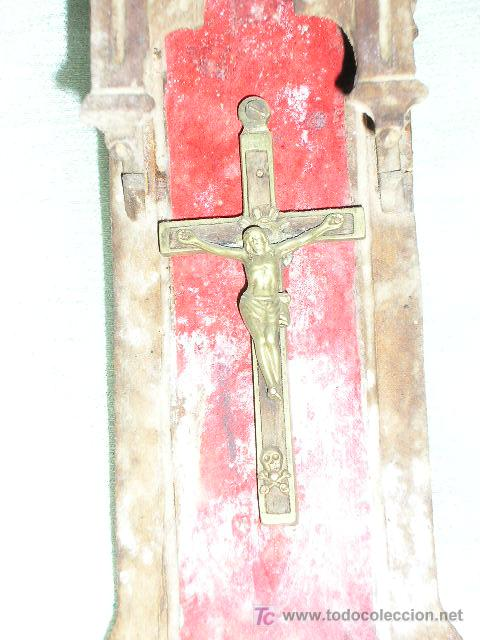 Antigüedades: HORNACINA - CAPILLA TALLADA EN MADERA * MUY ANTIGUA * - Foto 2 - 22018780