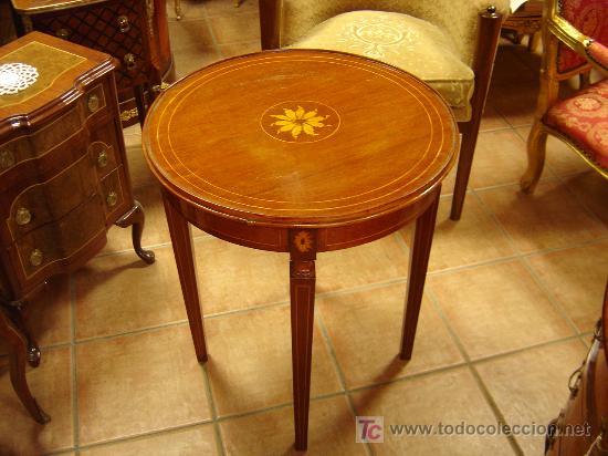 Mesa decorativa con roseton de marqueteria comprar mesas - Mesas antiguas ...
