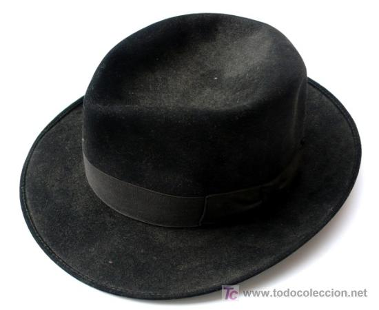 325984b127273 Sombrero negro de hombre - pp. s. xx - Vendido en Venta Directa ...