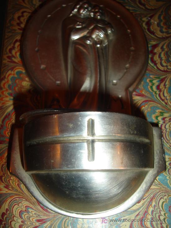 Antigüedades: BENDITERA MODERNISTA EN METAL - Foto 3 - 4479318