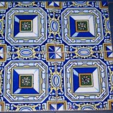 Antigüedades: PANEL DE CUATRO AZULEJOS CON UN SIGLO DE ANTIGÜEDAD. Lote 4508595