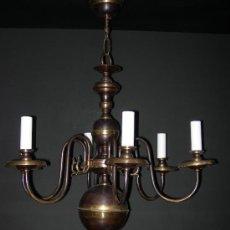 Antigüedades: LAMPARA HOLANDESA 6 LUCES . Lote 4519961