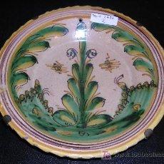 Antigüedades: PLATO PUENTE DEL ARZOBISPO C.A. 1800 APROX, SERIE DEL PINO, 22'5 CM DE DIAMETRO, . Lote 16058289
