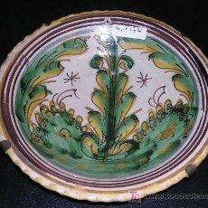 Antigüedades: PLATO PUENTE DEL ARZOBISPO C.A. 1800 APROX, SERIE DEL PINO, 22'5 CM DE DIAMETRO, . Lote 16058290