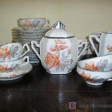 Antigüedades: JUEGO DE CAFÉ EN PORCELANA DE LIMOGES. MODERNISTA.. Lote 5249592