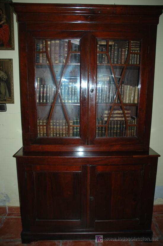 mueble biblioteca ingles caoba george iii sty comprar. Black Bedroom Furniture Sets. Home Design Ideas